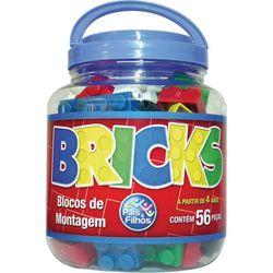 brinquedo-para-montar-bricks-blocos-56-pecas-pais-e-filhos-13584233
