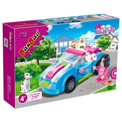 carro-azul-mundo-encantado-118-pcs-6119-banbao-7915317