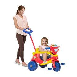 triciclo-velobaby-passeio-pedal-azul-e-vermelho-bandeirante