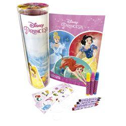 Livro-Princesas-Disney-Tubo-de-Atividades-para-Colorir---DCL