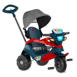 Triciclo-Velobaby-Reclinavel-com-capota-Passeio-e-Pedal---Bandeirante