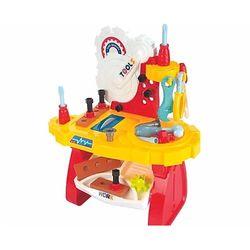 mesa-de-ferramentas-amarela-e-vermelha-fenix