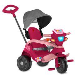 Triciclo-Velobaby-Rosa-Reclinavel-com-capota-Passeio-e-Pedal---Bandeirante