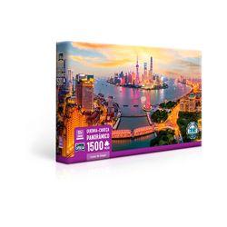 Quebra-cabeca-Panoramico-1500-pecas-Luzes-de-Xangai---Toyster