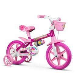 Bicicleta-Aro-12-Flower-Selim-Pu---Rosa---Nathor