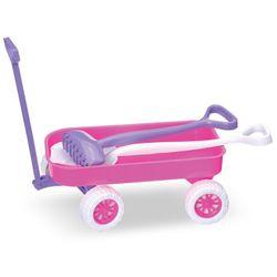 Carrinho-de-Praia-Rosa---Usual-Brinquedos