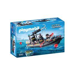 Playmobil-Unidade-Tatica-com-Bote---City-Action---Sunny