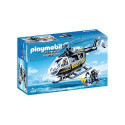 Playmobil-Unidade-Tatica-com-Helicoptero---City-Action---Sunny