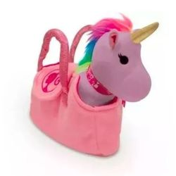 Bolsinha-Barbie-Pelucia-Unicornio-Roxo---Fun-Toys