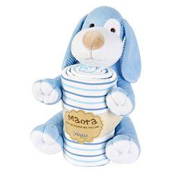 Pelucia-Com-Manta-Cachorro-Manchinha-Azul---Anjos-Baby