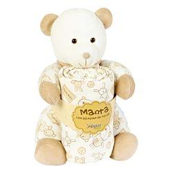 Pelucia-Com-Manta-Urso-Pimpao-Bege---Anjos-Baby