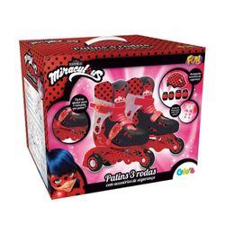 Patins-Miraculous-3-Rodas-Ajustavel-29-32-Ladybug---Fun-Toys