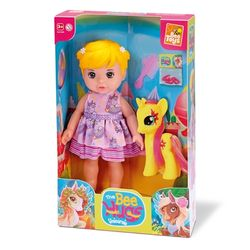 boneca-bee-hugs-unicornio-bee-toys