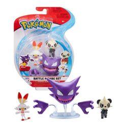 Pokemon-Figuras-Haunter-Scorbunny-e-Pancham---Set-de-Batalha--Sunny