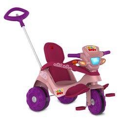 Triciclo-Velocipede-Reclinavel-Passeio---Pedal-Rosa---Bandeirante