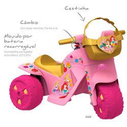 Mini-Moto-Eletrica-Princesas-Disney---6V---Bandeirante