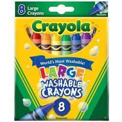 Giz-De-Cera-Lavavel-Grande-8-Cores---Crayola