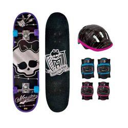 Monster-High-Skate-Caveira-com-Acessorio-de-Seguranca---Fun-Toys