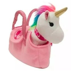 Bolsinha-Barbie-Pelucia-Unicornio-Branco---Fun-Toys