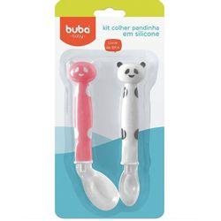 Kit-2-Colheres-de-Panda-em-Silicone-Vermelho---Buba