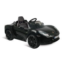 Mini-Carro-Porsche-918-Spyder-Preta-Eletrica-12V---Bandeirante